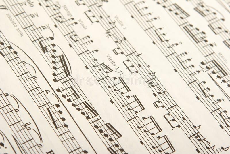 Música de folha clássica fotografia de stock royalty free
