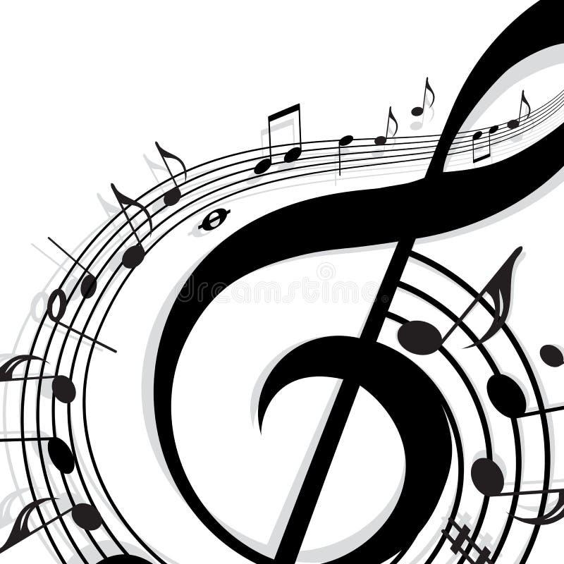 Música de fondo stock de ilustración