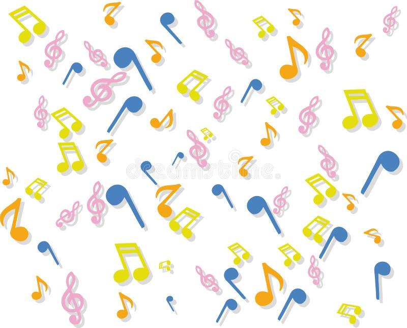 Música de fundo à moda ilustração do vetor