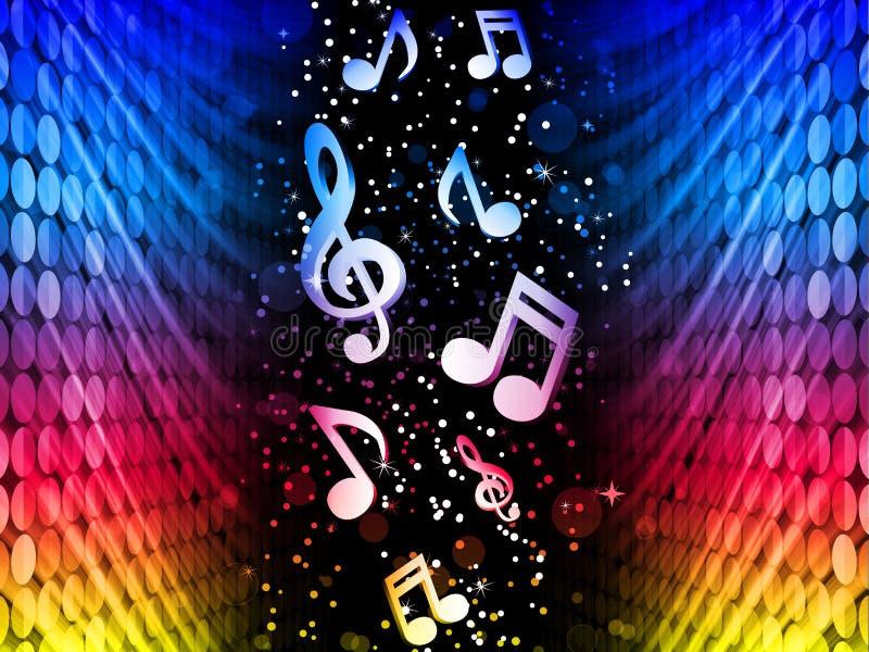 Música de fundo colorida abstrata das ondas do partido não ilustração stock