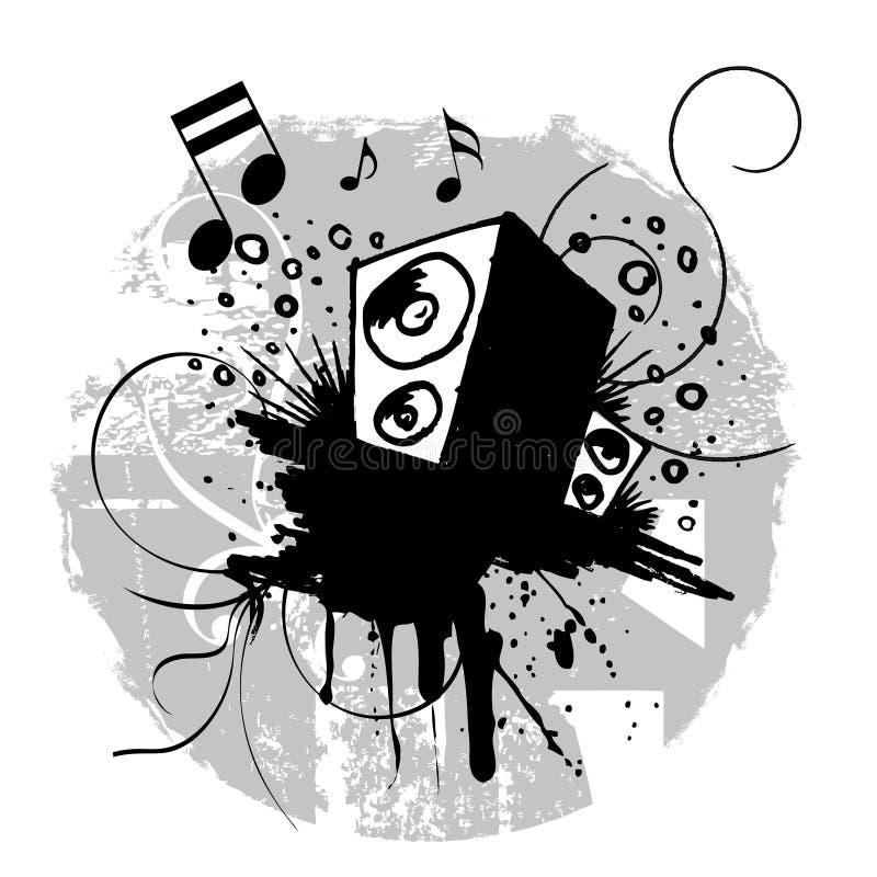Música de Grunge ilustração stock