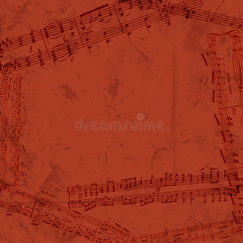 Música de hoja stock de ilustración