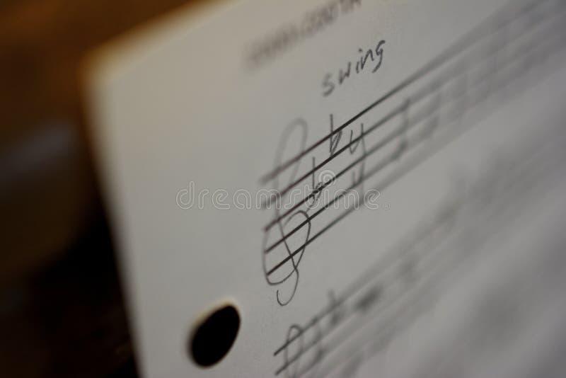 Música de hoja manuscrita foto de archivo libre de regalías