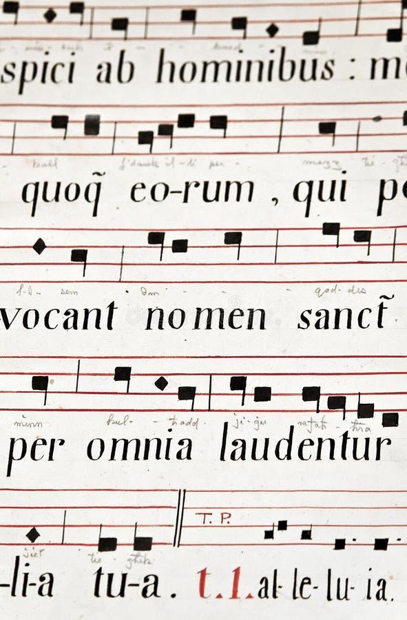 Música de iglesia medieval foto de archivo libre de regalías