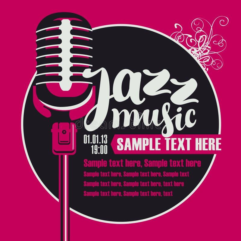 Música de jazz con un micrófono stock de ilustración