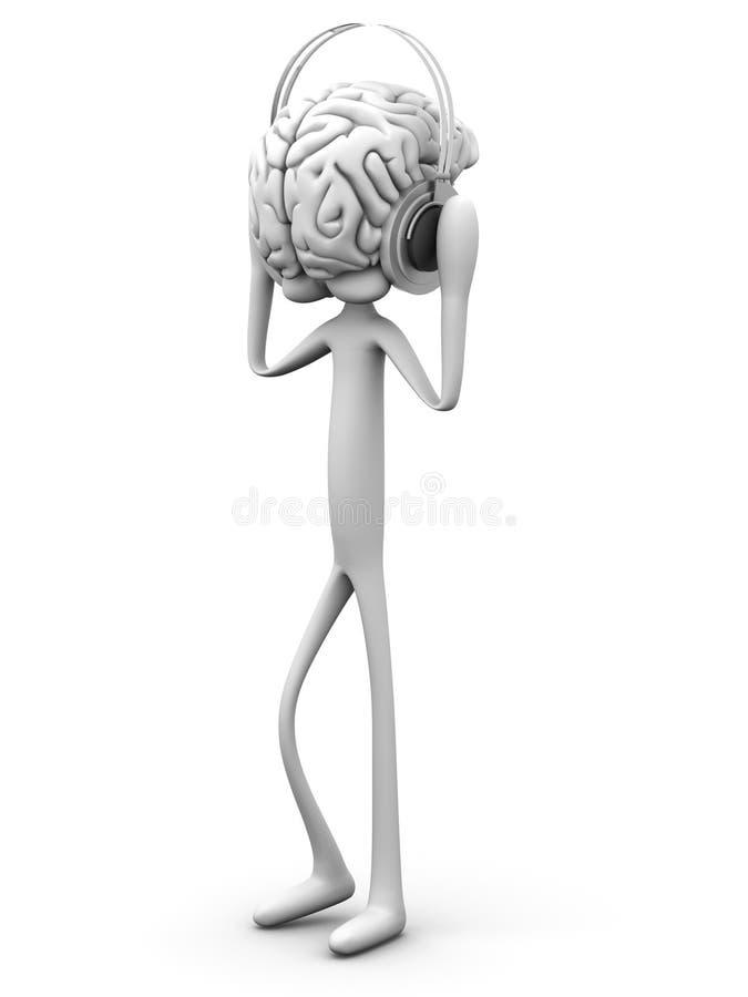 Música de la mente ilustración del vector