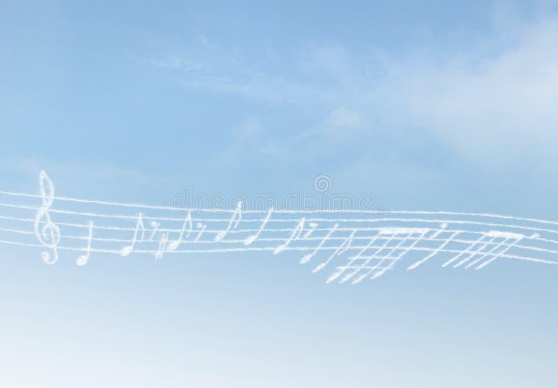 Música de la nube imágenes de archivo libres de regalías