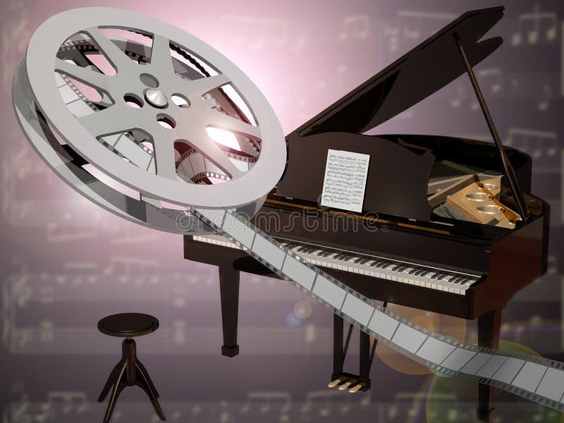 Música de la película ilustración del vector