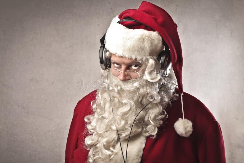 Música de Papai Noel foto de stock