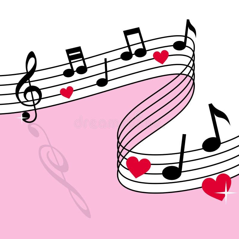 Música del amor ilustración del vector