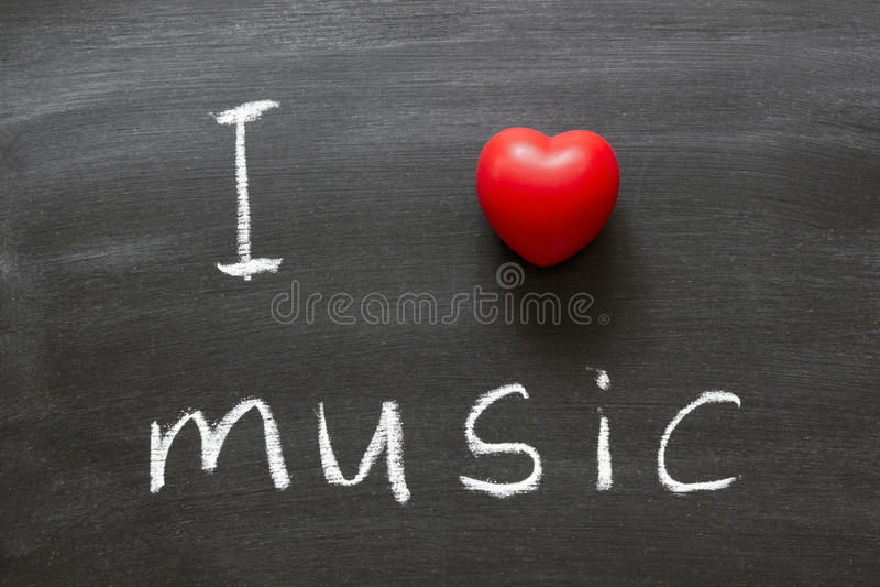 Música del amor imagenes de archivo