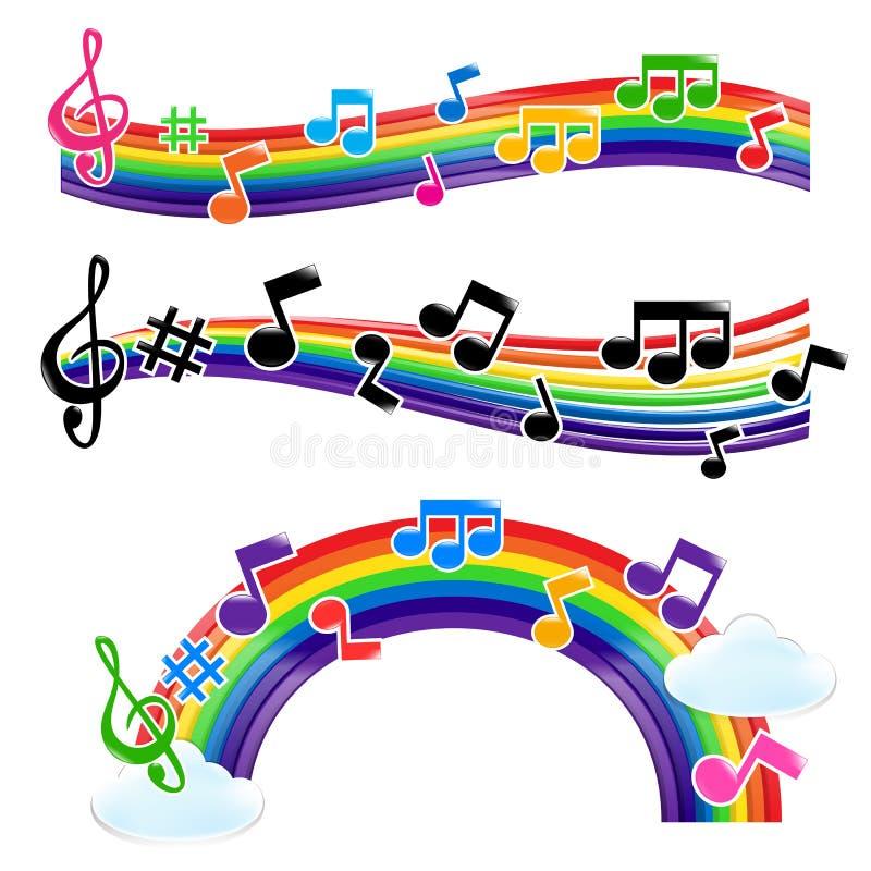 Música del arco iris ilustración del vector