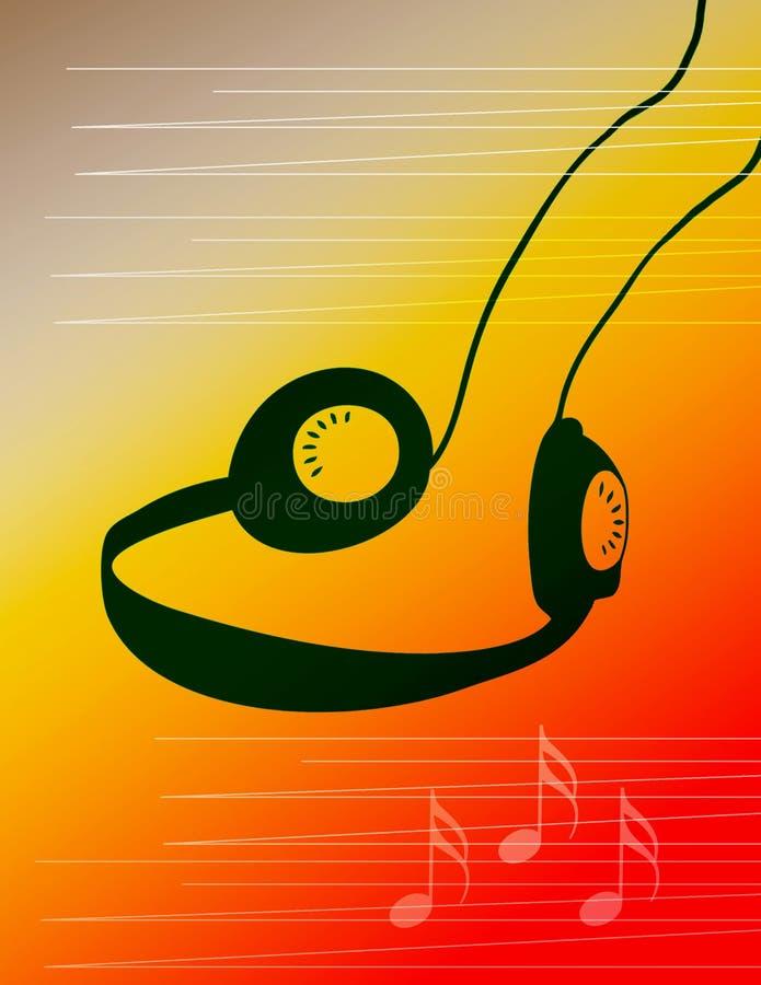 Música Del Auricular Foto de archivo