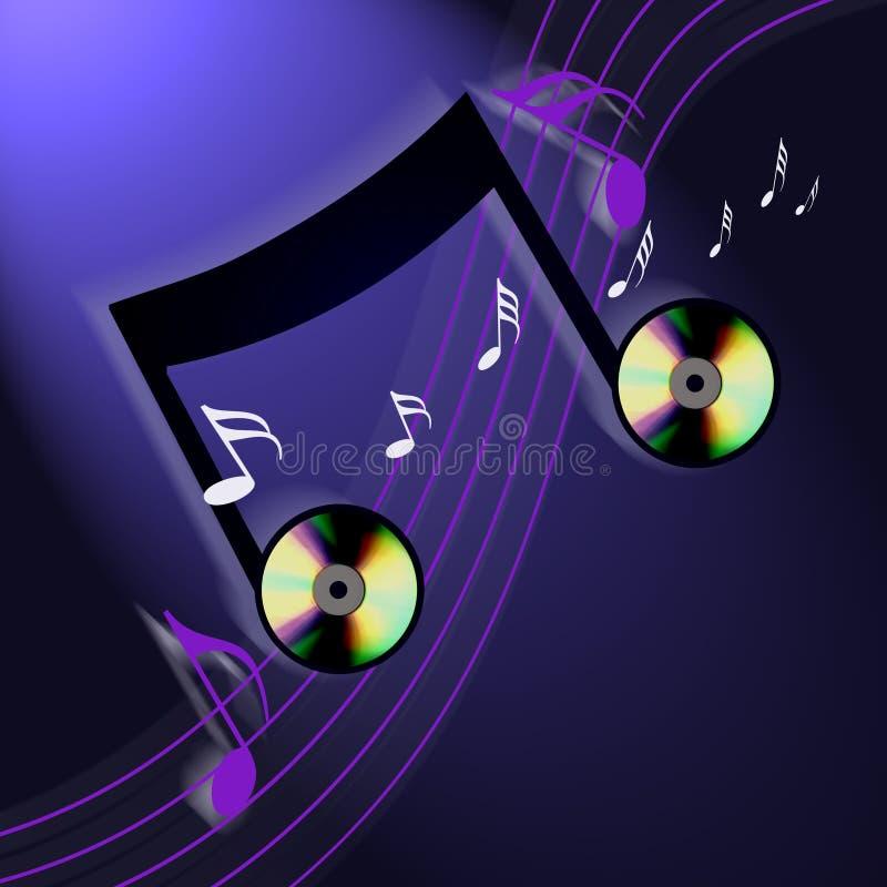 música del Cd del Internet stock de ilustración