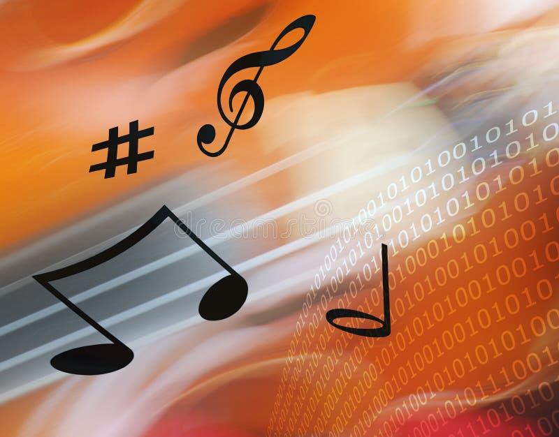 Música del Internet ilustración del vector