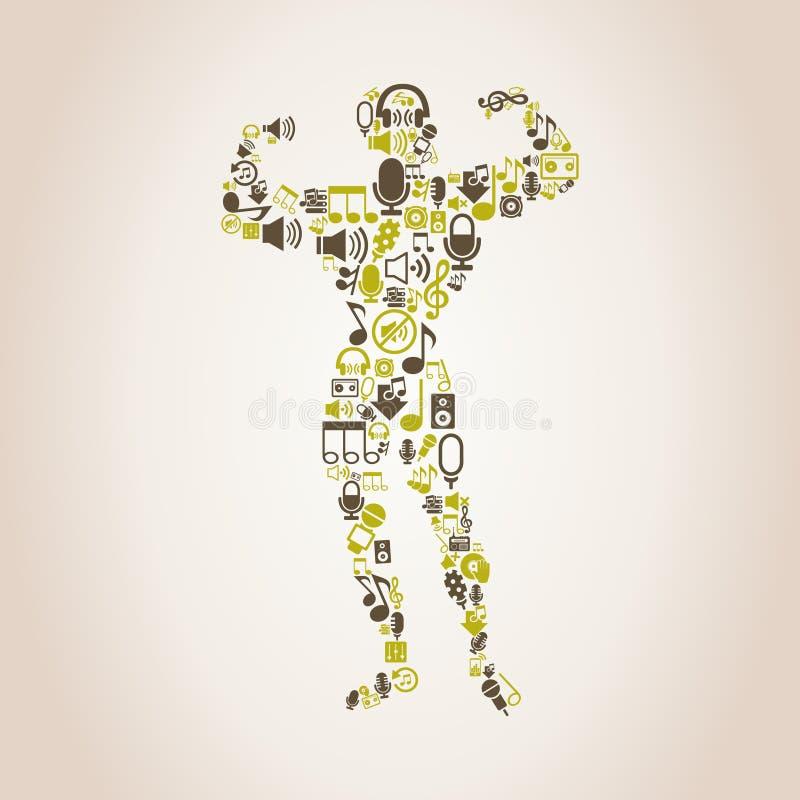 Música del levantamiento de pesas libre illustration