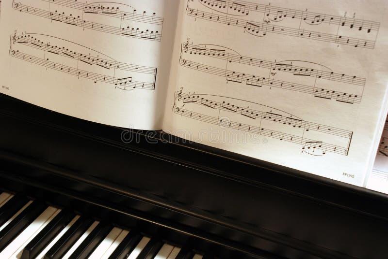 Música del piano fotografía de archivo