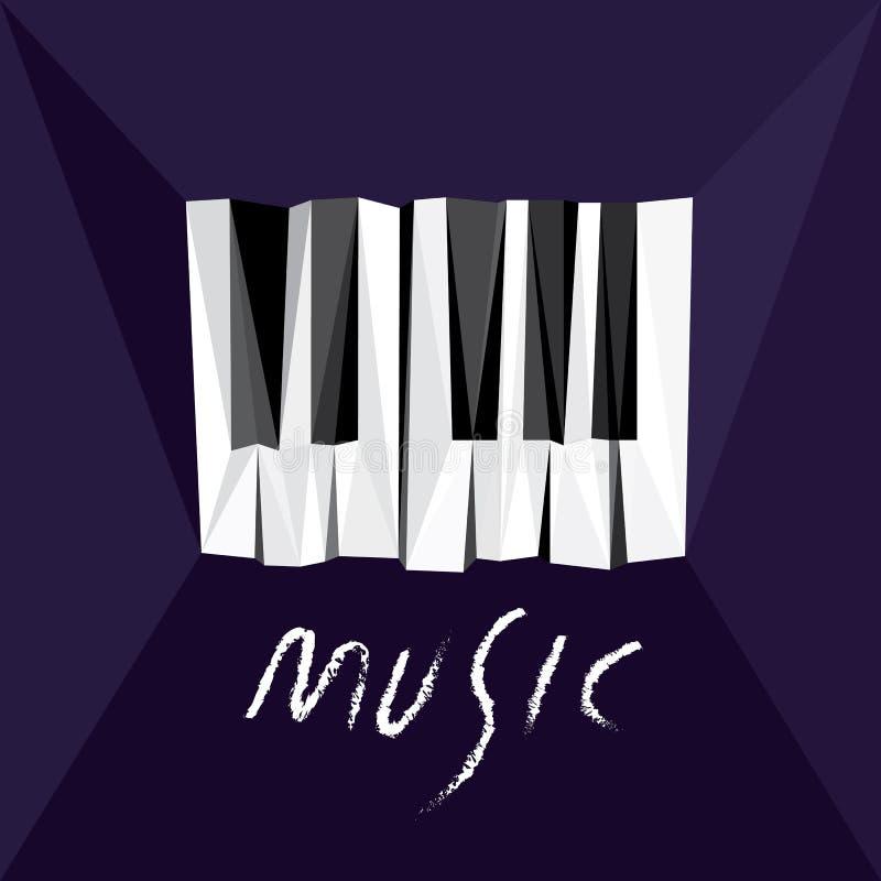 Música del piano ilustración del vector