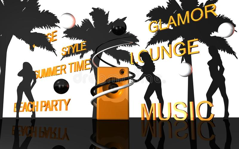 Música del salón libre illustration