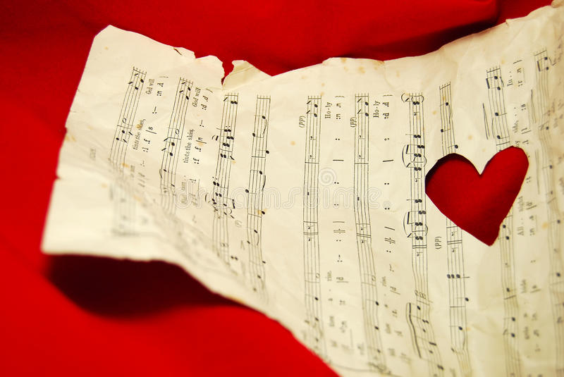 Música do amor fotos de stock