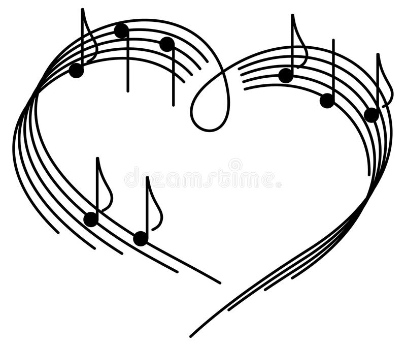 Música do amor. ilustração stock