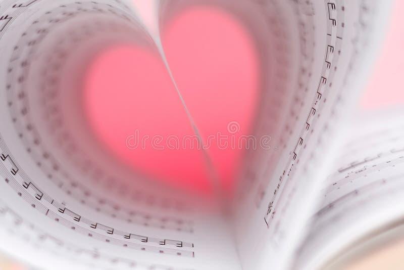 Música do amor imagens de stock