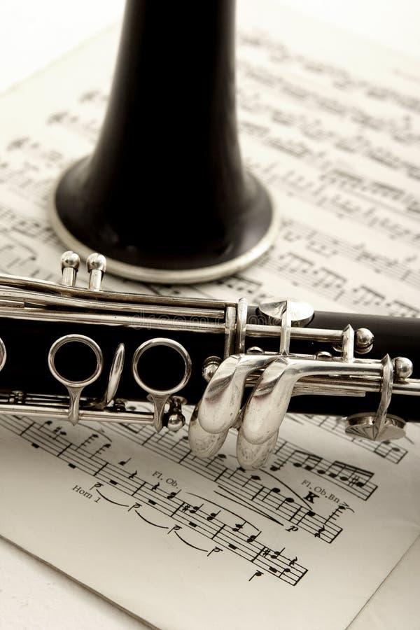 Música do Clarinet e de folha foto de stock royalty free