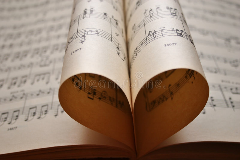 Música do coração fotografia de stock