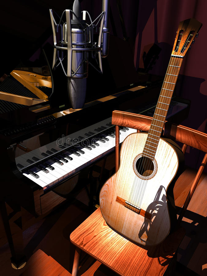 Música do estúdio ilustração do vetor