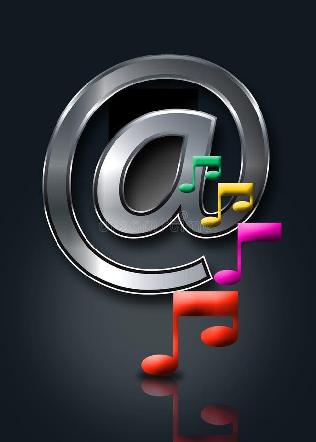 Música do Internet/em linha música ilustração royalty free