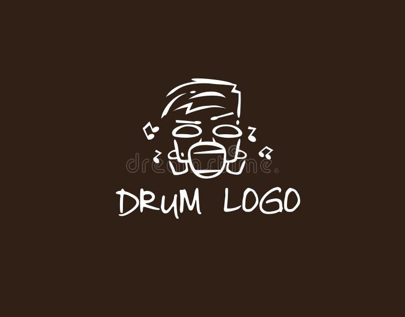A música do logotipo com cilindro gosta da cara fotografia de stock royalty free