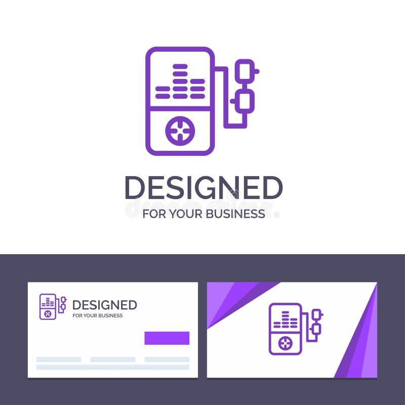 Música do molde criativo do cartão e do logotipo, Mp3, jogo, ilustração do vetor da educação ilustração royalty free