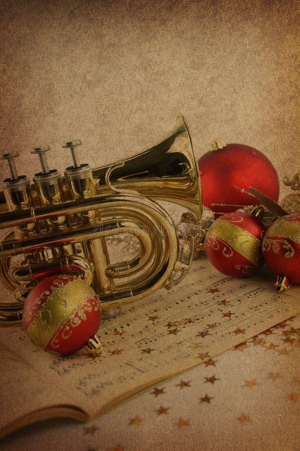 Música do Natal imagens de stock