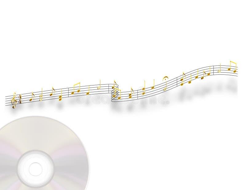 Música do ouro ilustração do vetor
