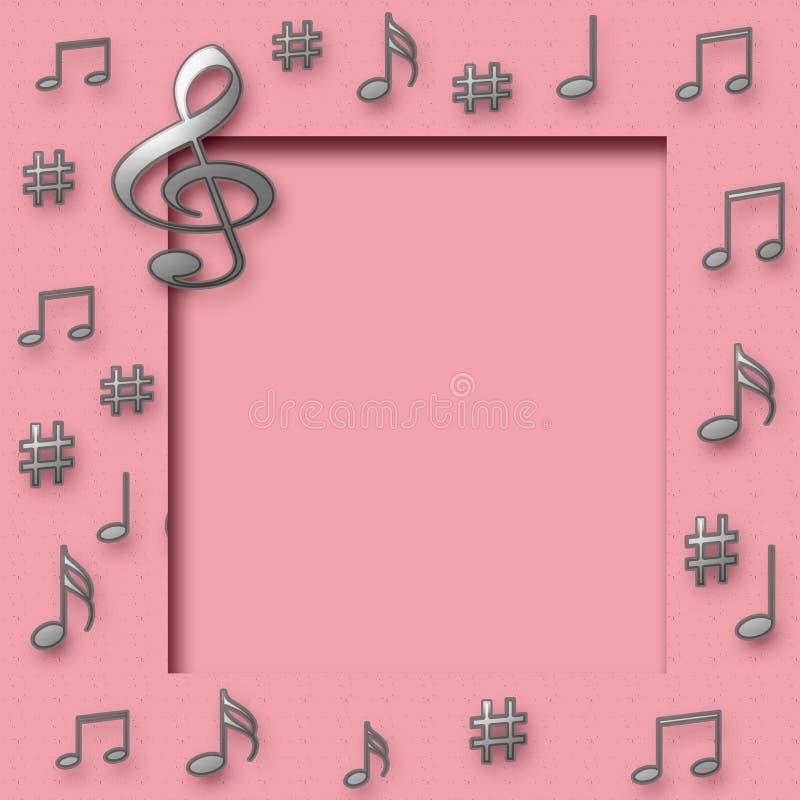 Música do Scrapbook ilustração royalty free