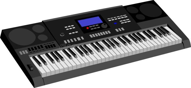 A música do teclado ilustração do vetor