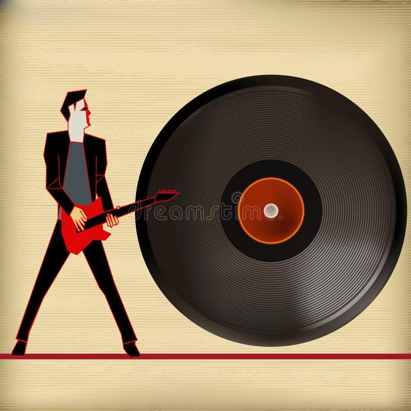 Música do vinil ilustração royalty free