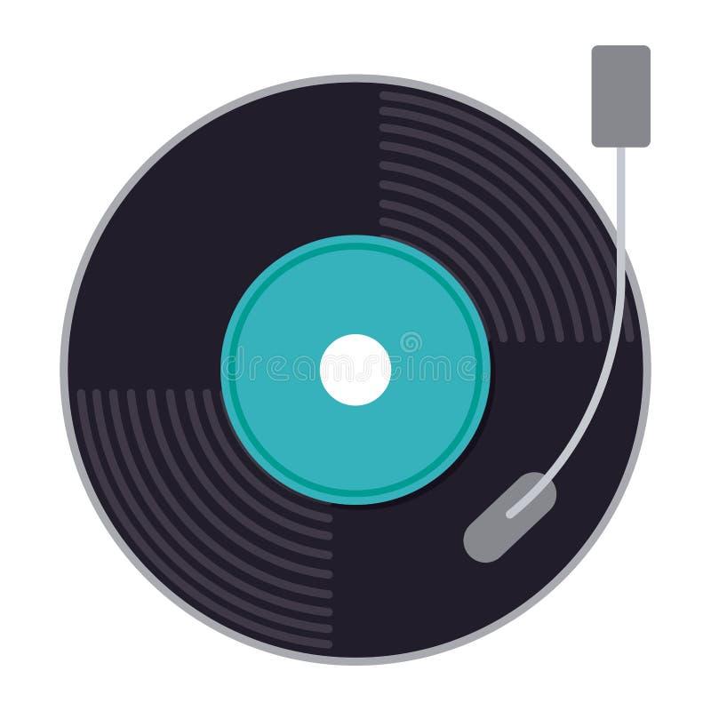 A música do vinil isolou o projeto do ícone ilustração stock
