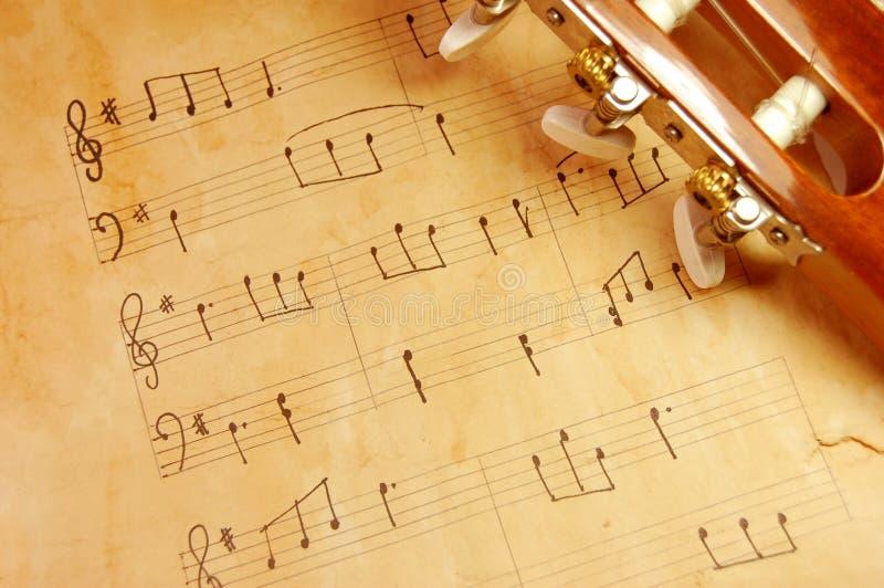 Música do vintage fotografia de stock