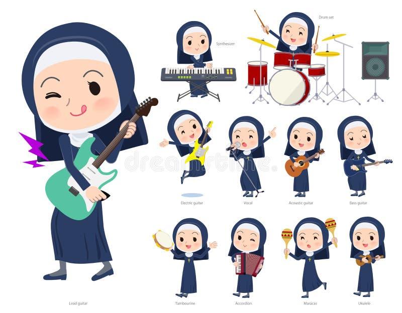 Música do women_pop da freira ilustração stock