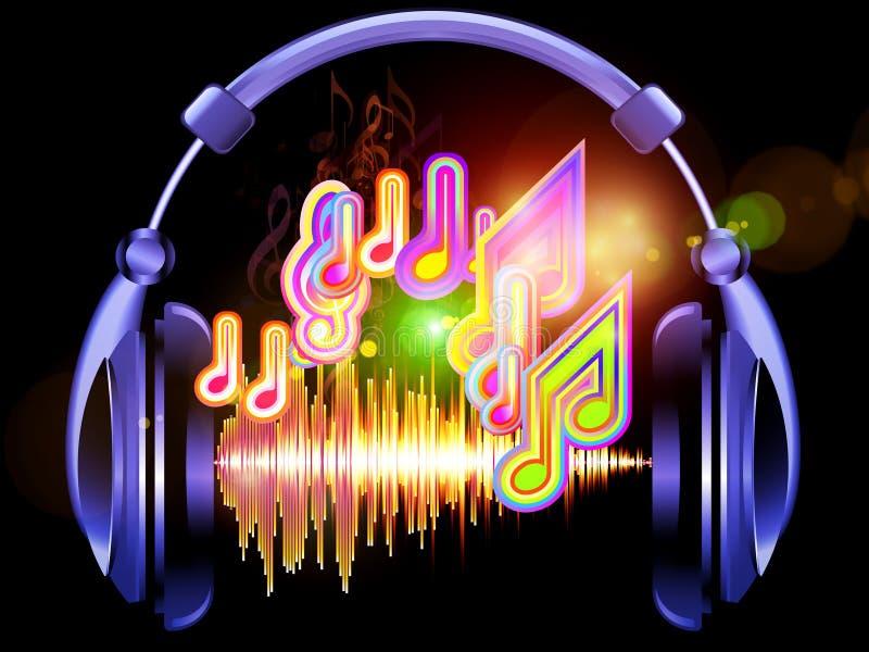 Música dos auscultadores ilustração royalty free