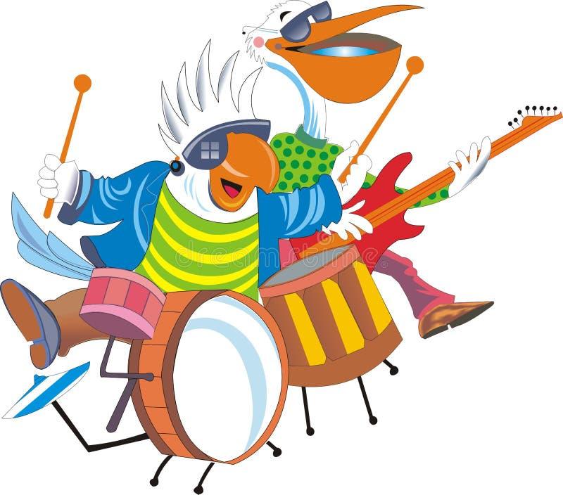 Música dos desenhos animados ilustração stock