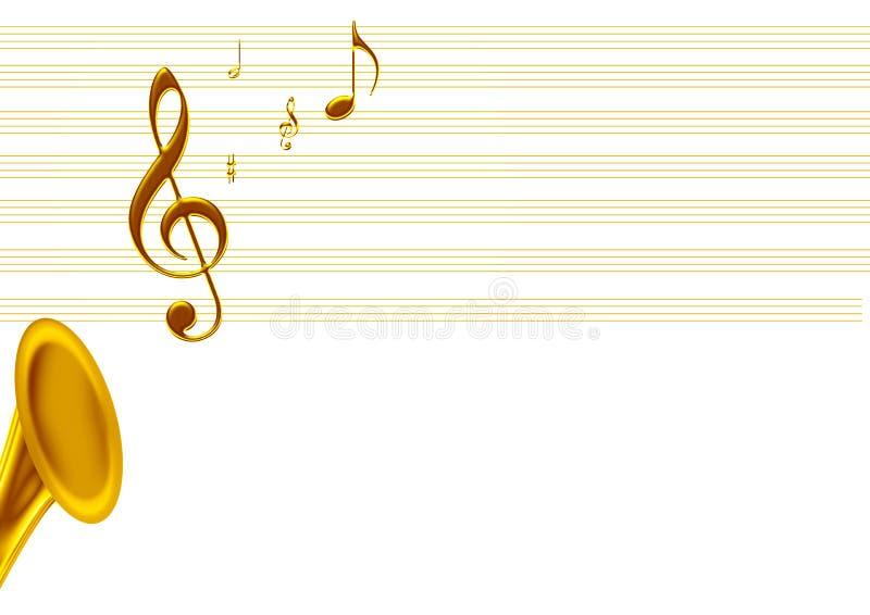 Música dourada ilustração stock