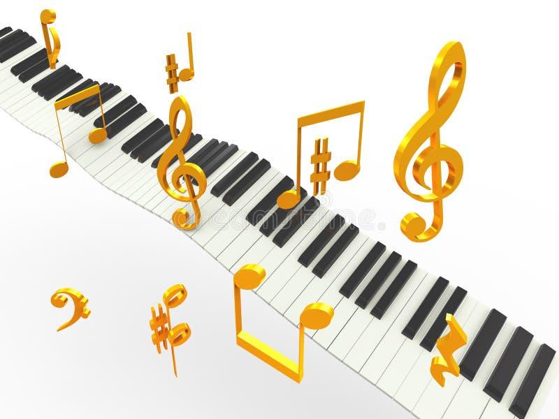 Música dourada do superhit ilustração stock