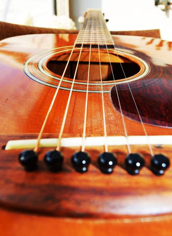 Música e guitarra, close-up fotos de stock royalty free