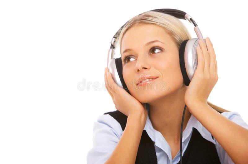 Música e mim imagem de stock