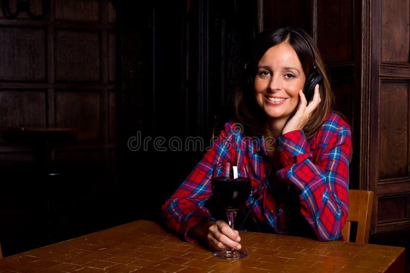 Música e vinho imagem de stock royalty free