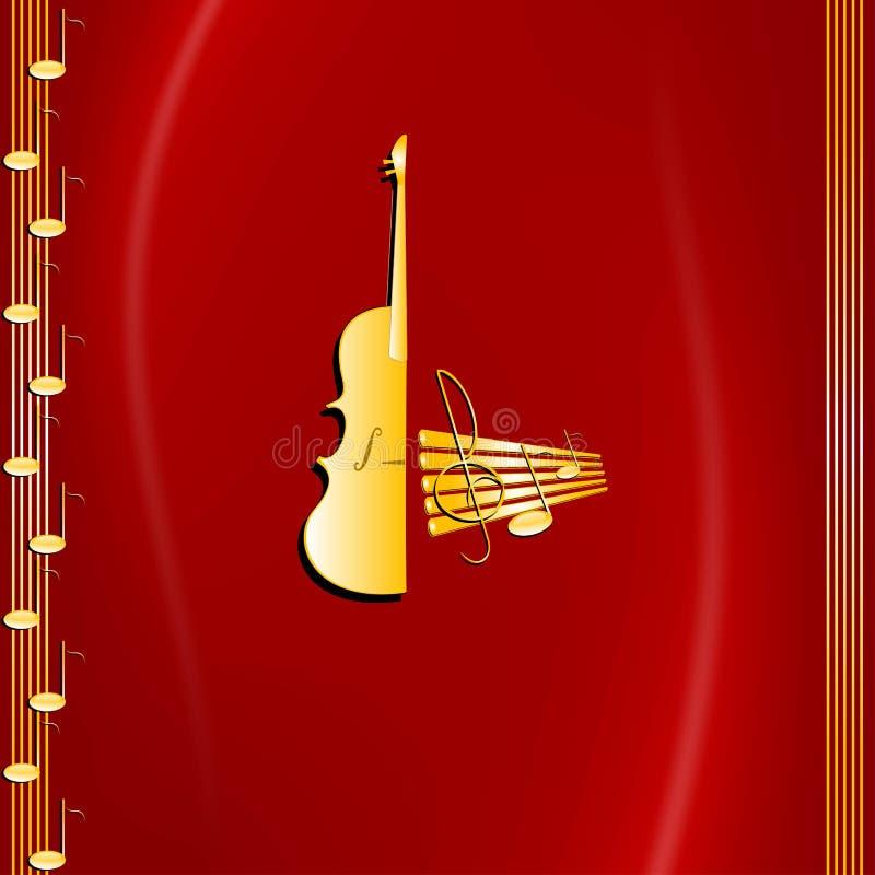 Música e violino ilustração do vetor