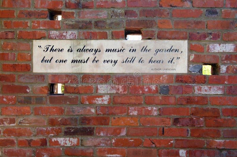 Música en el jardín foto de archivo libre de regalías