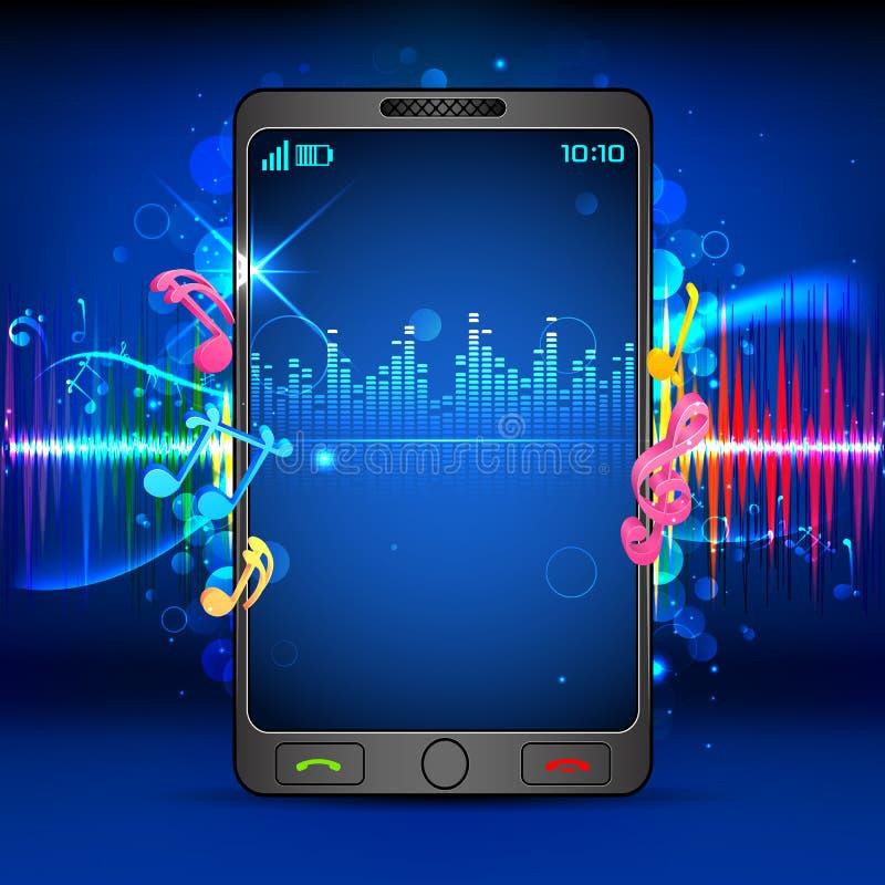 Música en el teléfono móvil libre illustration